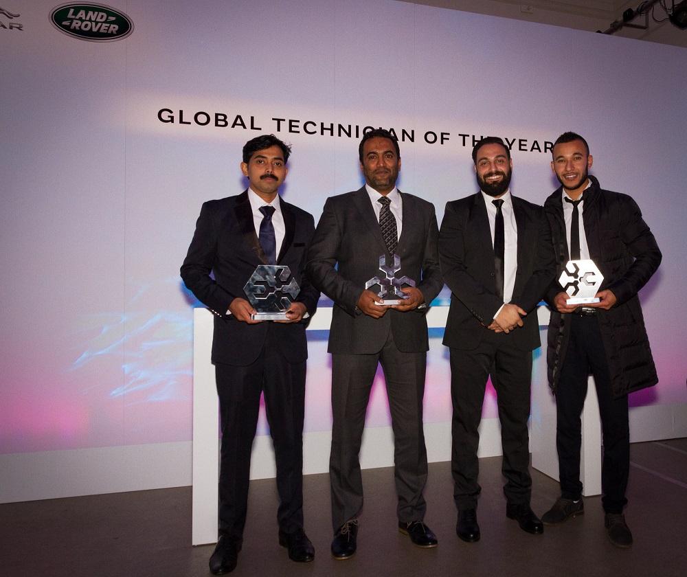 جاجوار لاند روڤر الشرق الأوسط وشمال أفريقيا تحصد جوائز مرموقة خلال حفل توزيع الجوائز العالمية لأفضل تقني للعام 2016 في المملكة المتحدة